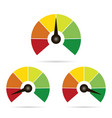 set of measuring icons easy normal hard on white vector image vector image