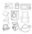 Set of pieces of household vector image