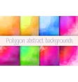 set polygon abstract vector image vector image