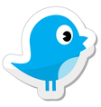 Social media blue bird vector image vector image