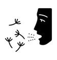 summer allergy glyph icon