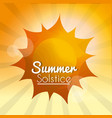 summer solstice vacations vector image vector image