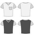 t-shirt design templates front and back sides vector image