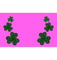 Three Leaf Clovers vector image
