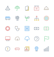 User Interface Colored Line Icons 9 vector image vector image