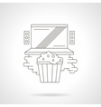 Watching online movie detailed line icon vector image vector image