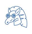 zebra line icon concept zebra flat symbol vector image