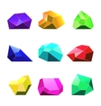 crystals white background for mobile game vector image