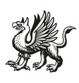 a black and white griffin vector image vector image