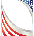 abstract american flag frame vector image vector image