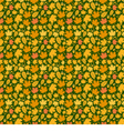 Autumn Yellow Leaf Background Pattern vector image vector image