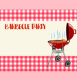 barbecue party blank invitation vector image vector image