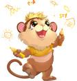beautiful cute monkey vector image vector image