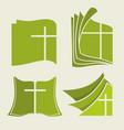 biblical symbols set vector image vector image
