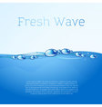 Blue water template vector image