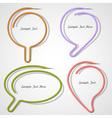 bubbles speech made paper clip vector image vector image