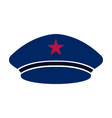captain hat icon vector image