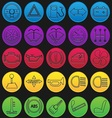 Car Dashboard Icon Set Gradient Line vector image vector image