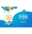 celebrating 28th years birthday vector image vector image