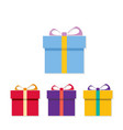 chrismtas set of gift boxes vector image