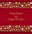 christmas border with golden christmas toys and vector image vector image