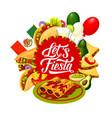 cinco de mayo mexican holiday food and drink vector image vector image