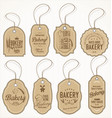 collection of vintage bakery labels vector image