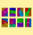 colorful abstract backgrounds for cover design vector image