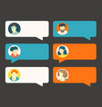 conversation clouds with cute avatars clipart vector image
