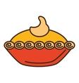 delicious pumpkin pie icon vector image