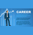 design a banner on topic career vector image