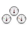 fuel gauge set of round white car dashboard 3d vector image vector image