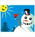 good bye winter vector image vector image