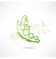 green peas grunge icon vector image vector image