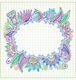 Hand draw doodle frame element vector image