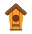 Handcrafted wooden hut with roof for birds safe vector image