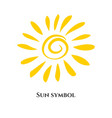 handwritten sun icon symbol vector image