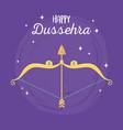 happy dussehra festival india gold arrow bow vector image vector image