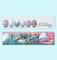happy easter sale banner poster invitation vector image vector image