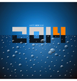 Happy New Year 2014 Title on Blue Drink vector image vector image