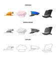 headwear and cap symbol vector image vector image