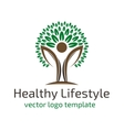 Healthy lifestyle logo vector image
