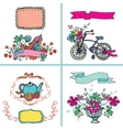 Holiday Doodle floral card setHand sketchy vector image vector image