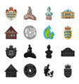 house residential style and other web icon in vector image vector image