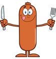 Hungry Sausage Cartoon vector image vector image