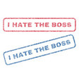 i hate the boss textile stamps vector image vector image