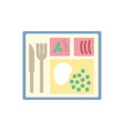 isolated fork knife and plate design vector image