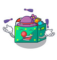 juggling children toy boxes isolated on mascot vector image vector image