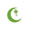 ketupat eid al fitr ramadan vector image vector image