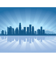 Los angeles skyline with reflection in water vector | Price: 1 Credit (USD $1)